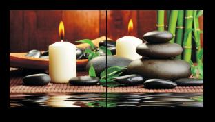 Свечи и камни спа 102* 50 см