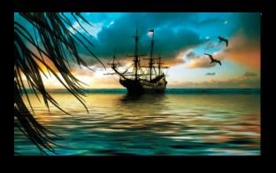 вид на корабль