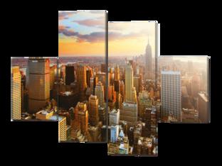 Панорама город 126* 93 см