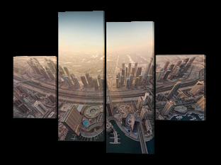 Вид на город сверху 126* 93 см