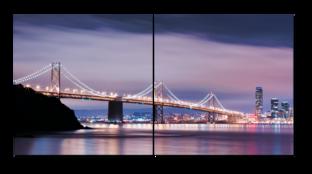 Мост в сиреневом закате 82* 40 см