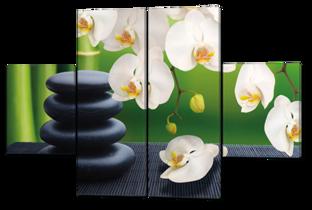 Белые орхидеи 126* 85 см