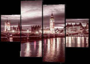 Ночной город Лондон 126* 93 см