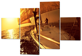 Путешествие на яхте закат