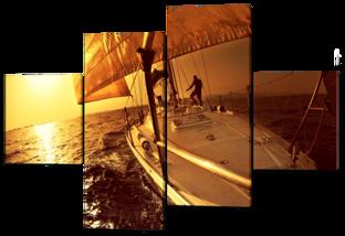 Путешествие на яхте закат 166* 114 см