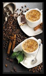 два кофе латте