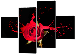 Роза красная брызги 166* 114 см