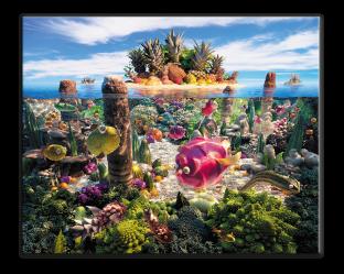 Океан из овощей и фруктов 50 cm* 40 cm