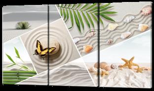 Песок ракушки бабочка 124* 70 см