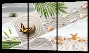 Коллаж с бабочкой на камне