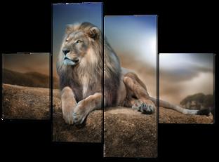 Лев на камне 126* 93 см