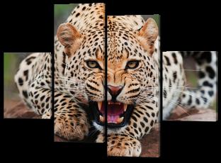 Леопард рычит 126* 93 см