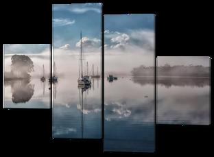 Парусники в тумане