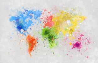 цветная карта мира