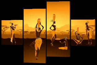 Африканские девушки с кувшинами 166* 114 см