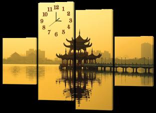 Восточная беседка и часы