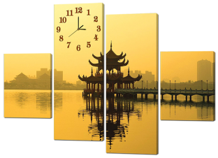 Восточная беседка и часы 126* 93 см