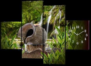 Кувшин и водопад 126* 93 см
