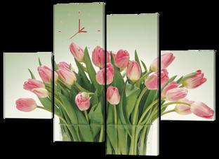 Тюльпаны в вазе 126* 93 см
