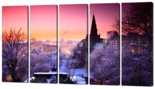 Город зимняя ночь 118* 64 см