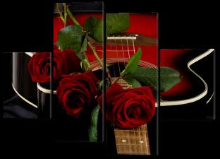Гитара розы 126* 93 см