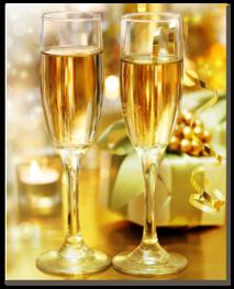 Шампанское в бокалах