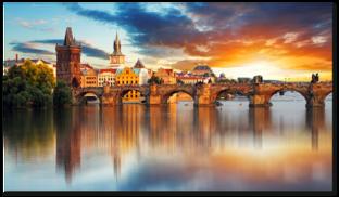 Карлов мост на закате