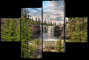 Большой водопад и лес 166* 114 см