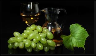виноград и сок