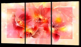 Розовые цветы в рамке