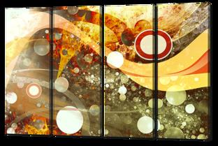 Абстракция круги и пузыри 94* 64 см