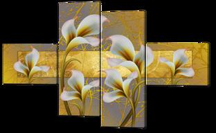 Цветы фантазия 148* 93 см