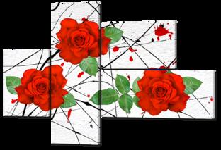 Красные розы 131* 93,5 см