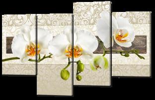 Три орхидеи абстракция 126* 82,5 см