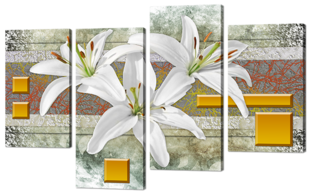 Три лилии абстракция