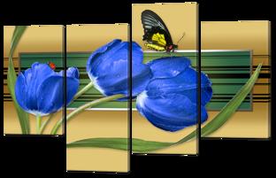 Тюльпаны синие