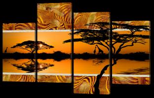 Африканский пейзаж 126* 82,5 см
