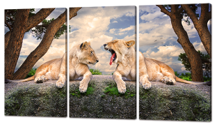 Два льва 124* 70 cм