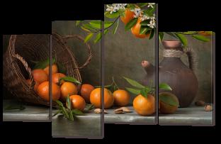 Апельсины натюрморт 126* 82,5 см