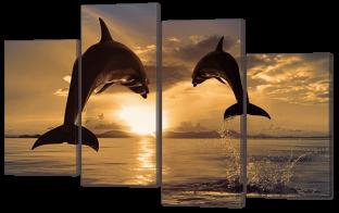 Дельфины 126* 82,5 см