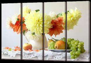 Хризантемы и фрукты 94* 64 см