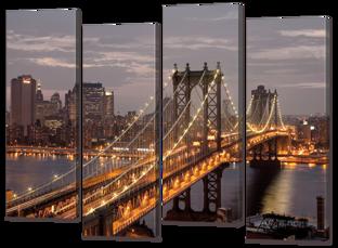 Мост, ночные огни 94* 69 см