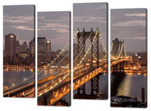 Вид на мост, ночные огни 94* 69 см