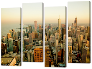 Панорама города утром 94* 69 см