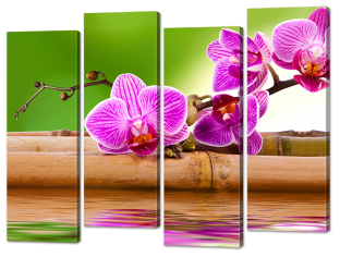 Орхидея на бамбуке 94* 69 см