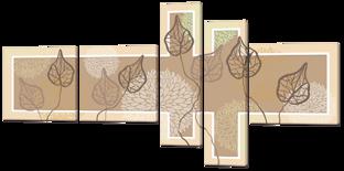 Листья гербарий 168* 84 см