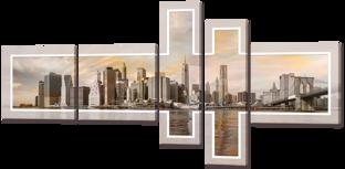 Вид на город композиция 168* 84 см