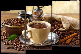 Кофе с корицей 124* 86 см