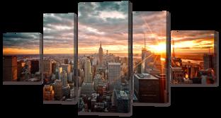 Город панорама 140* 75,5 см
