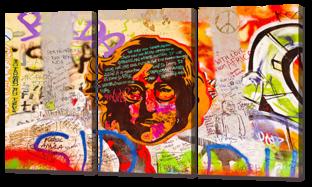 Джон Леннон граффити 124* 70 см